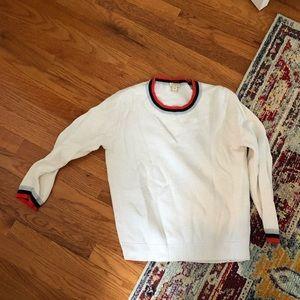 J crew varsity crew neck sweater